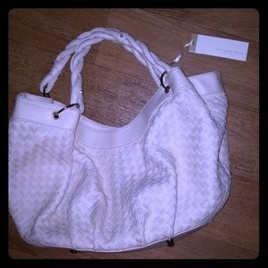 Loeffler Randall Ivory leather handbag